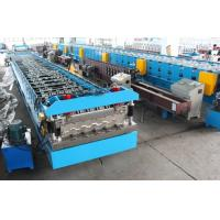 Quality 11KW X 2 Floor Deck Roll Forming Machine Chains Drive Wall Board Structure wholesale