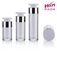 Quality 30ml 50ml White Inner Bottle And Clear Outer Bottle San Airless Bottle For Skin Care And Lotion wholesale