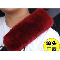 Quality Warm Soft Washable Sheepskin Seat Belt Strap Covers For Car / Truck / Auto wholesale