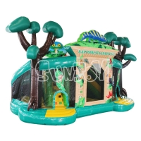 China Jungle Playground Bouncy Castle Slide Inflatable Play Park on sale