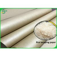 Quality Hard Burst Strength Rice Wrapping 80G 90G Uncoated Brown Papel Kraft Roll wholesale
