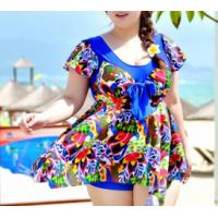 Quality Large size dress-piece swimsuit hot spring steel prop swimsuit large cup wholesale