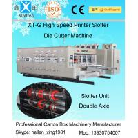 China Flexo Printer Corrugated Carton Machinery With Slotting and Die Cutting Unit on sale