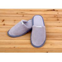Quality 100 Percent Cotton Velour Velvet Disposable Hotel Slippers , Disposable Bathroom Slippers wholesale