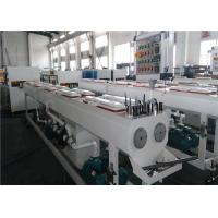 Quality 150KG/H Capacity PVC Pipe Extrusion Line Dust / Chip Free Cutting System wholesale