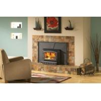 Quality Big Heating Output Wood Insert Fireplace With Weekly Program Black / Grey Color wholesale