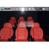 Quality 3 Seat 7D Cinema 7D Movie Theater Red Motion Rides With Pneumatic System wholesale