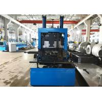Quality Galvanized Steel CZ Purlin Roll Forming Machine With Lubricating System wholesale