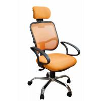 Quality Orange Fabric Home Office Computer Chair Ergonomic Back Comfortable For Whole Day Work wholesale