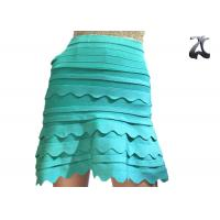 China Anti Pilling Ladies Knit Skirts Green Color Office Suit for Spring S XXL Customized on sale