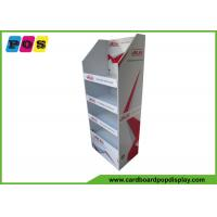 Quality Custom Made Instore Retail Cardboard Floor Standing Display Unit With Four Shelves wholesale