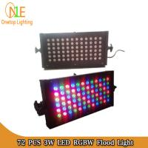 Quality 72pcs 3W RGB Waterproof LED Flood Lights| led wall washer light|Ground Lights wholesale