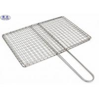 China Square Barbecue Grill Wire Mesh , Stainless Steel BBQ Grill Mesh ISO Certificated on sale