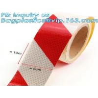 China Aluminized Red And White Reflective Tape For Trucks Metalized Reflective Tape marks for vehicle SECURITY TAPE on sale