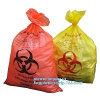 Quality disposable autoclave sterilization biohazard bags, Heavy duty safety plastic biohazard infectious waste bag medical wast wholesale