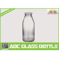 Cheap Decored beverage juice water milk 1liter glass bottle with hermetic lid for sale