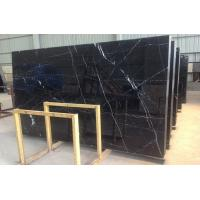 Quality Honed Polished Black Marquina Marble Stone Slab For Bathroom Vanity Tops wholesale