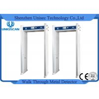 Quality White Single Zone Door Frame Metal Detector , Walk Through Detector With Top LED Indicator wholesale