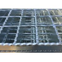 Quality Galvanized Serrated Steel Grating Anti Slip Welded Steel Silver / Black Color wholesale