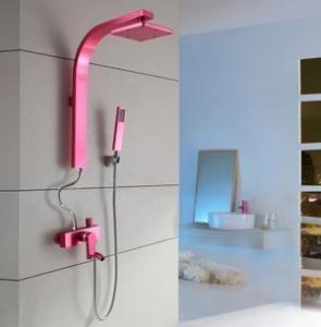 China Shower Sets Waterfalls Shower Valves Mixer Shower Valve Pink Color on sale