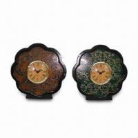 Quality Petaline-shaped Desk Clock, Made of Ceramic and Plastic, Customized Designs are Welcome wholesale