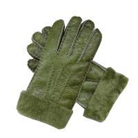 Christmas Gift Stock Merino Lamb fur Shearling Sheepskin Gloves for Women