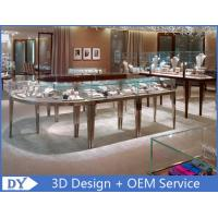 Quality Metal Boutique Jewelry Showcase Display Tempered Glass On Top And Sides wholesale