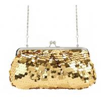 Buy cheap 2015 hot selling Golden shinny evening bag in high quality sequin material product