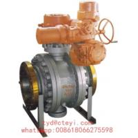 Quality API 6D Side Entry Flanged Ball Valve Class 150 Trunnion Mounted With Electric Actuator wholesale