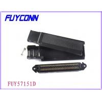 Quality Black Plastic Cover 32 Pair IDC Male Connector / Male Pin Connector wholesale