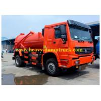 China Howo 10 cbm Sewage Suction Tanker Truck 6x4  for sanitary sewer cleaning on sale