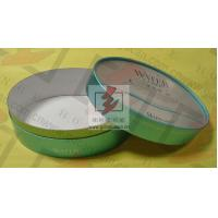 Cheap Green Foldable 6 Inch Cardboard Tube Containers Packaging Handled for sale