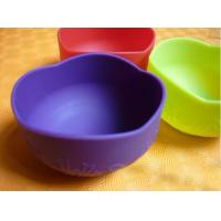 China Colorful Silicon Kitchenware Utensils / Cookware, Non-toxic Foldable Silicone Baby Bowl on sale