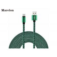 Cheap Nylon Hemp FLower USB Transfer Cable 1M / 3FT Round Fabric Braided Custom Logo for sale