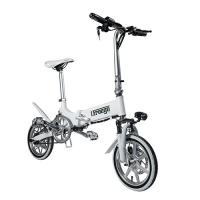 Quality Mini Portable Folding Electric Bike / Fold Up Electric Bicycle 36V7.8Ah 14 Inch wholesale