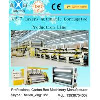 Quality 3 Layers Corrugated Packaging Box Making Machine 70m * 8.2m * 4.5m For Paperboard wholesale