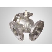 Cheap Cast Steel 3-way Ball Valve Stainless Steel L-port T-port Anti-static for sale