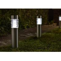 China Super Bright Solar Powered Bollard Garden Lights , Square LED Bollard Light on sale