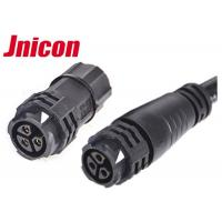 Quality Black 3 Pin Circular Connector Waterproof Assembly And Molded Cable 3 Pole Female Adapter wholesale