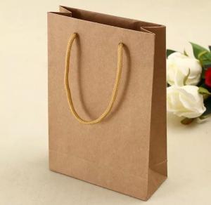 China 2016 Cheap customized brown kraft paper bag wholesale/brown kraft bags on sale