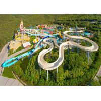 Buy cheap Commercial Spiral Water Slide / Water Park Equipment Spiral Swimming Pool Slide from wholesalers