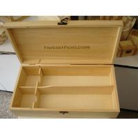 Quality wooden wine boxes for 2 bottles packaging, Solid Pine wood, hinged and clasp wholesale