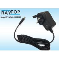 Quality UK Plug 12v wall adapter 1000mA , CE ROHS AC DC Adapter High Efficiency wholesale