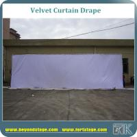 China White velvet curtain drapes for car show portable stage backdrop with frame resistant  and 100% blackout on sale