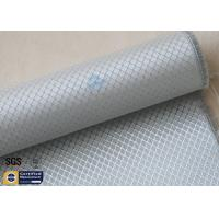 Quality Silver Coated Fabric Aluminized Fiberglass Cloth 6.5OZ 0.2MM 260℃ Checked wholesale