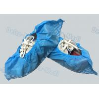 China Non Woven Non Skid Disposable Surgical Shoe Covers Blue Color 15 x 40cm on sale