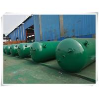 Quality 10mm Thickness Vertical Compressed Air Reservoir Tank With Flange / Screw Thread Connector wholesale