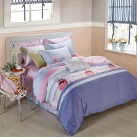 Quality King Size 6 Piece Home Coral Bedding Sets Silk Material Most Comfortable wholesale