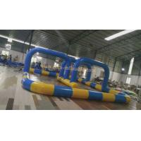 Quality kids go cart go kart race track inflatable race track wholesale