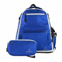 China Travel Used Girls Sequin Backpack , Comfortable Blue Cheer Backpack on sale
